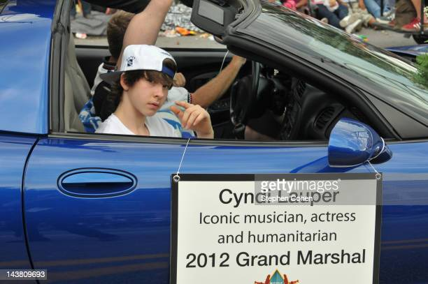 Declyn Wallace Thornton attends The Pegasus Parade during the Cyndi Lauper Shooting Scenes For Upcoming tv series on WE tv on May 3 2012 in...