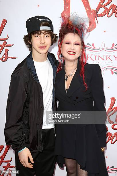 Declyn Wallace Thornton Cyndi Lauper attending the Broadway Opening Night Performance for 'Kinky Boots' at the Al Hirschfeld Theatre in New York City...