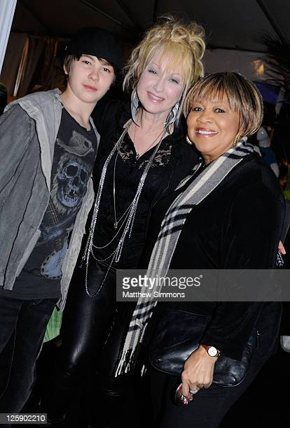 Declyn Wallace Thornton Lauper musician Cyndi Lauper and Mavis Staples attend the GRAMMY Gift Lounge during The 53rd Annual GRAMMY Award at Staples...
