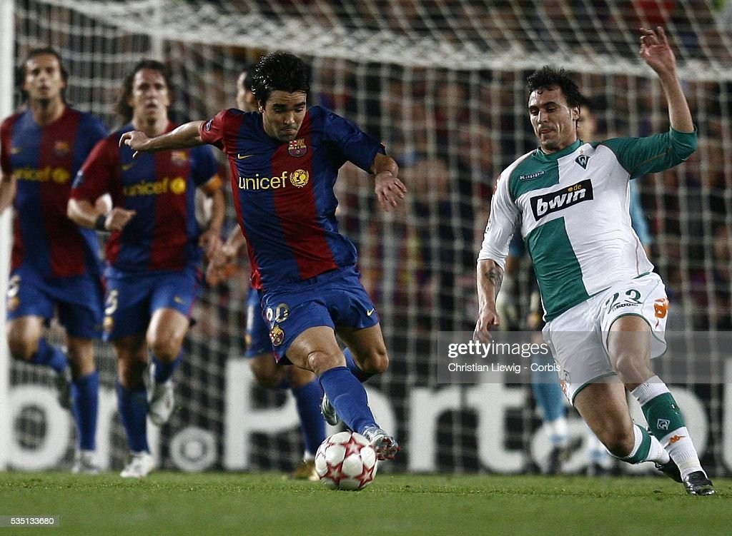 Deco And Hugo Almeida During The 2006 2007 Uefa Champions League News Photo Getty Images
