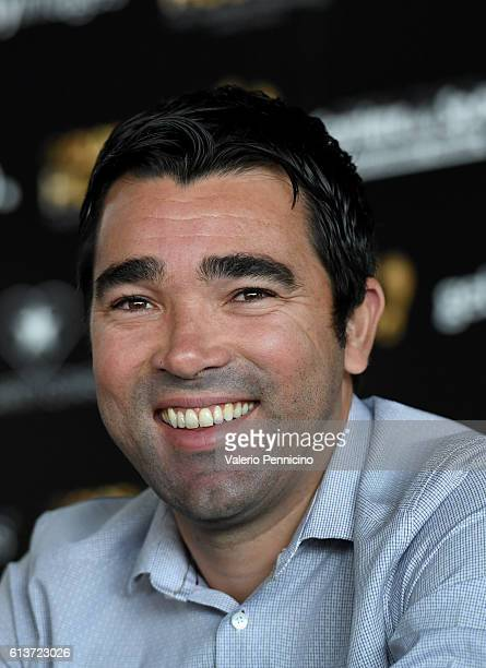 Deco attends the Golden Foot 2016 Award Ceremony press conference at Fairmont Hotel on October 10 2016 in Monaco Monaco