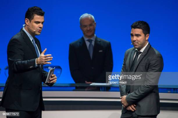 Deco Brazil former professional football player looks on during the UEFA Nations League Draw 2018 at Swiss Tech Convention Center on January 24 2018...