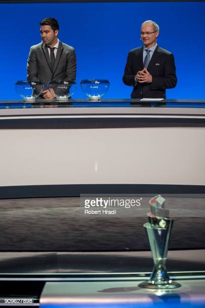 Deco former Brazilain football player is seen during the UEFA Nations League Draw 2018 at Swiss Tech Convention Center on January 24 2018 in Lausanne...