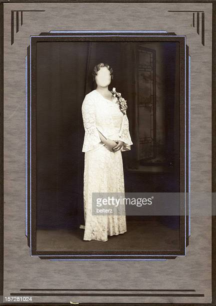 deco frame faceless bride - art deco stock pictures, royalty-free photos & images