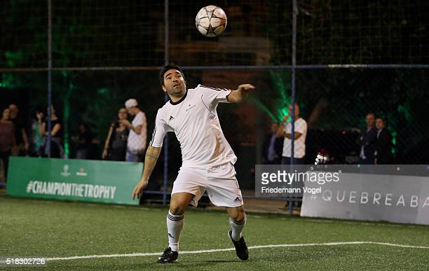 Deco in action during the UEFA Champions League Trophy Tour 2016 presented by Heineken on March 30 2016 in Sao Paulo Brazil