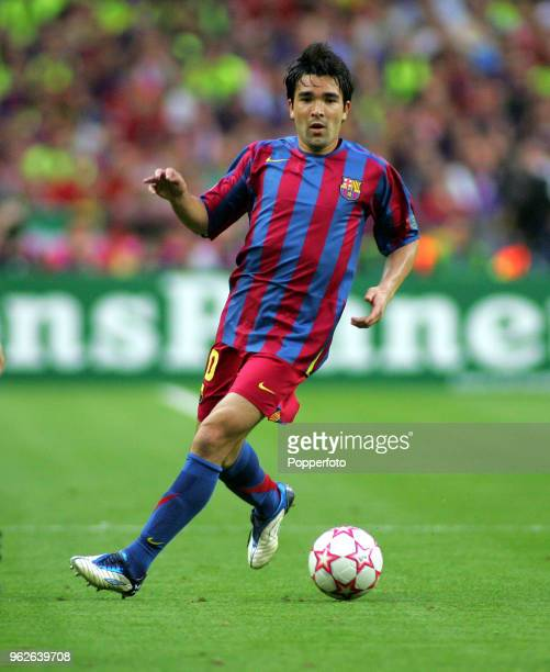Deco of Barcelona in action during the UEFA Champions League Final between Barcelona and Arsenal at the Stade de France in Paris on May 17 2006...