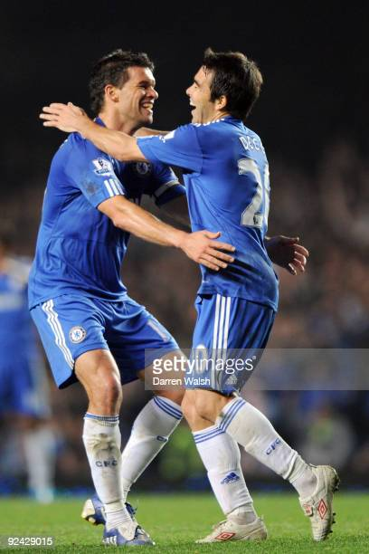 Deco of Chelsea celebrates scoring during the Carling Cup 4th Round match between Chelsea and Bolton Wanderers at Stamford Bridge on October 28 2009...