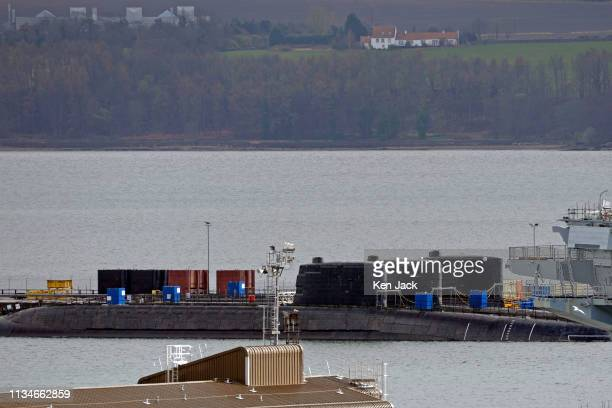 Decommissioned Royal Navy nuclear submarines lie alongside in Rosyth Dockyard on April 11 2019 in Rosyth Scotland The Ministry of Defence has...