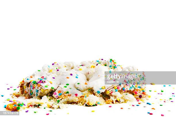 deconstructed cake - crushed stock pictures, royalty-free photos & images