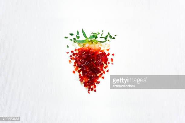 Deconstructed strawberry