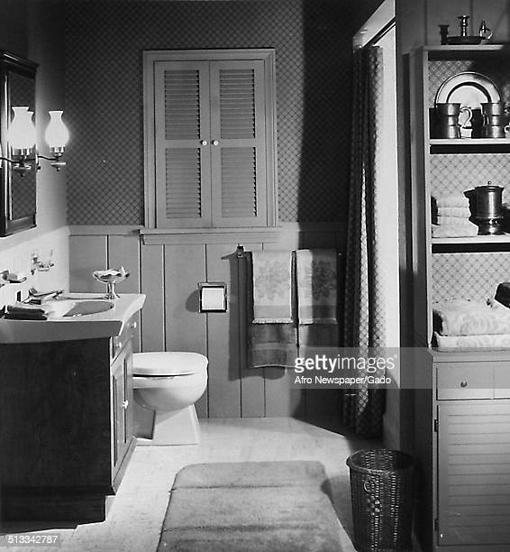 Decor in a bathroom 1946 The house featured was owned by an AfricanAmerican family
