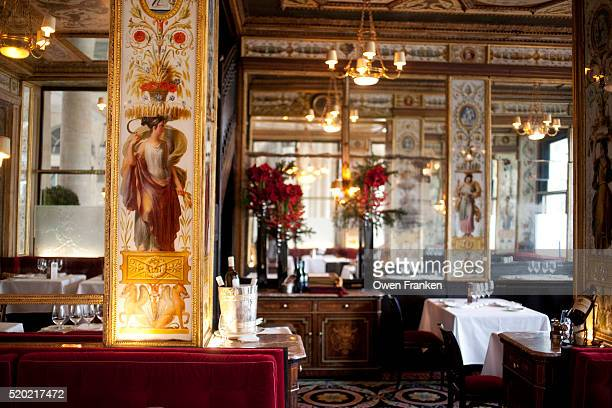 Decor in Le Grand Vefour Restaurant, Paris - restaurant dating from the late 18th Century