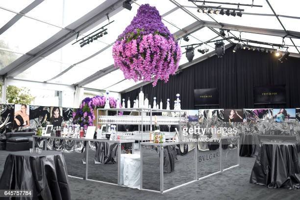 Decor on display at the 25th Annual Elton John AIDS Foundation's Academy Awards Viewing Party at The City of West Hollywood Park on February 26 2017...