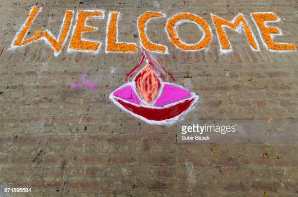 Decor, welcoming visitors at Varanasi,Uttar Pradesh,India.