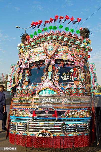 Decorated and colorful pakistani coach..