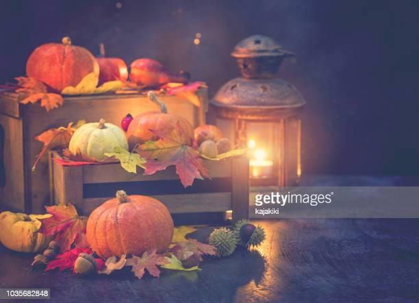 Decorated Autumn Background