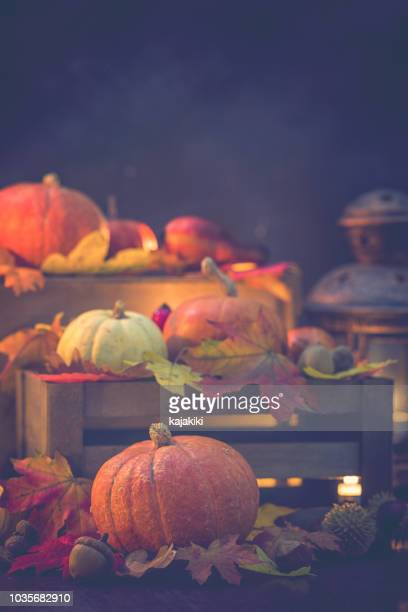 Decorated Autumn Background