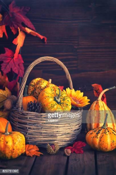Decorated Autumn Basket