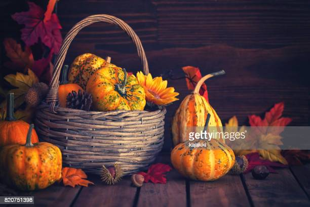 Decorated Autumn Basket