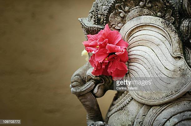 Decorated balinese statue