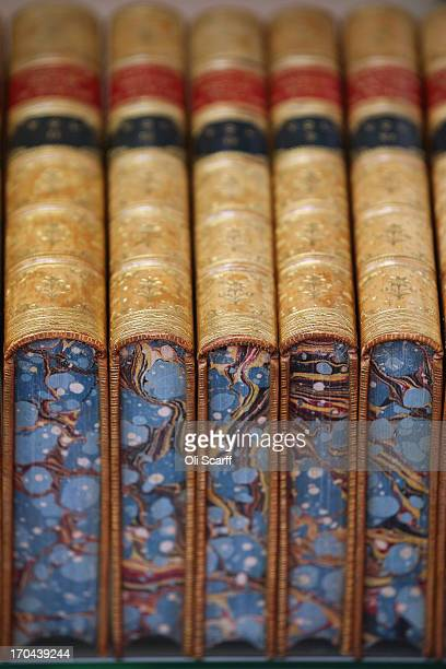 World book fair fotografas e imgenes de stock getty images decorated books are displayed at the london international antiquarian book fair in the olympia exhibition centre gumiabroncs Image collections