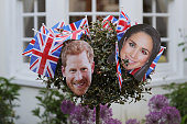 windsor england decorated bush ahead royal