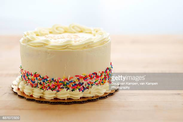 decorated cake - birthday cake stock photos and pictures