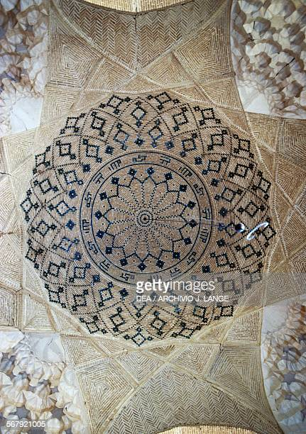 Decorated ceiling in the Imam mosque Kerman Iran 12th century