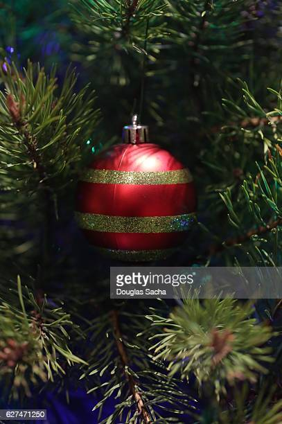 decorated christmas holiday tree - christmas background stock photos and pictures