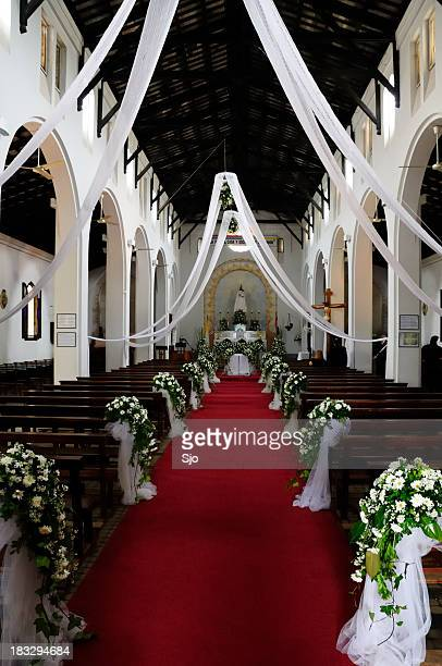 decorated church - church wedding decorations stock pictures, royalty-free photos & images