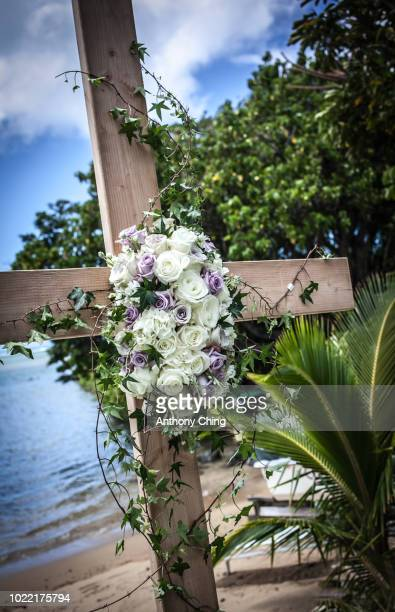 decorated cross - crosses with flowers stock pictures, royalty-free photos & images