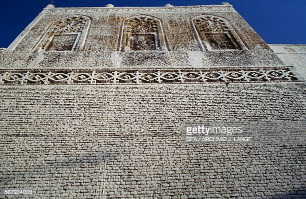Decorated facade of a building in Zabid Yemen