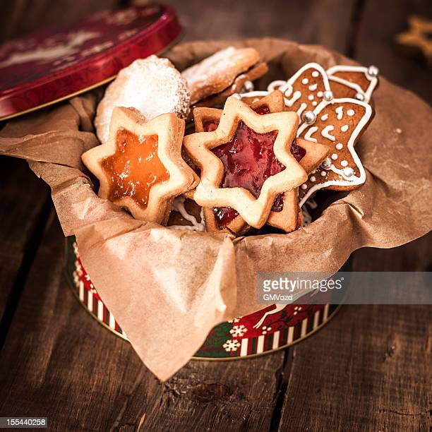 Decorated Holiday Christmas Cookies And Biscuits