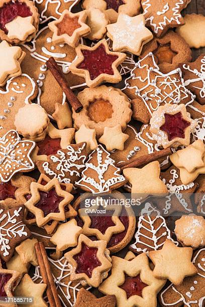 Décoration de Noël de Noël avec les Cookies et Biscuits