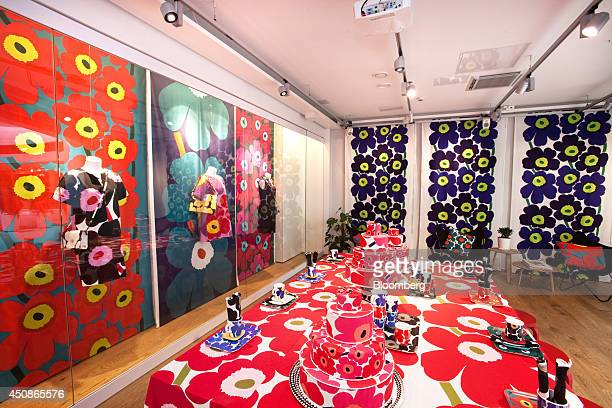 Decorated homewares sit for sale in the flagship Marimekko Oyj retail store in Helsinki Finland on Thursday June 19 2014 Marimekko propelled to fame...