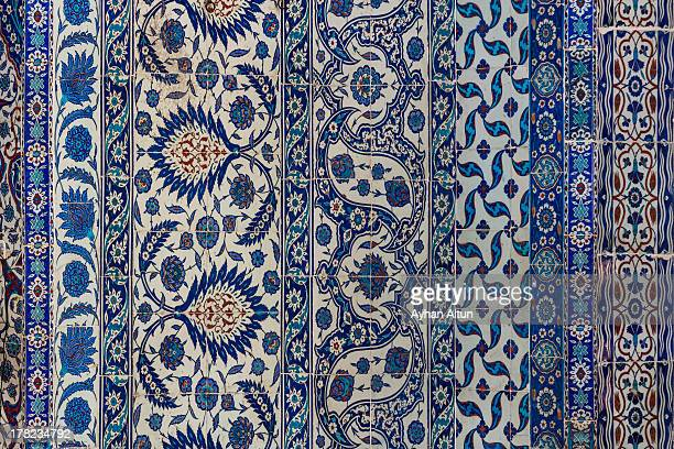 Decorated Iznik Tiles of Rustem Pasha Mosque
