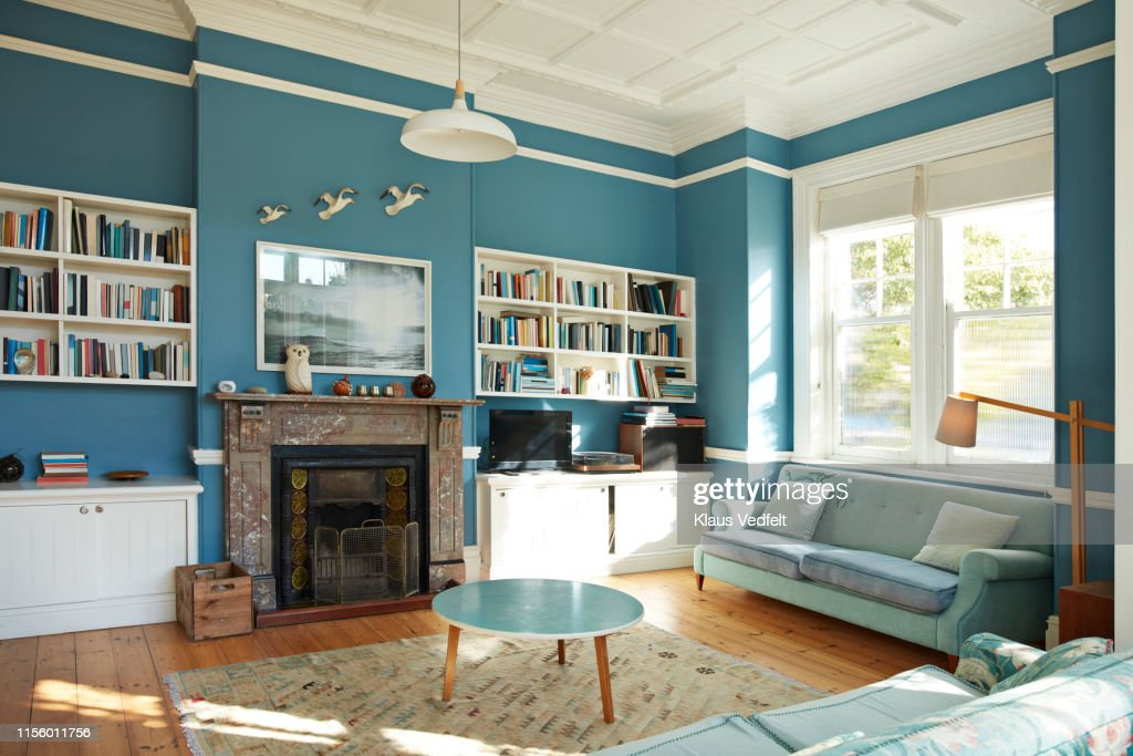 Decorated living room at home : Stock Photo
