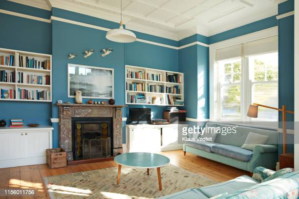 decorated living room at home - living room stock pictures, royalty-free photos & images