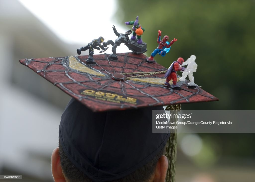 A Decorated Mortar Board During Cal State Long Beach Graduate