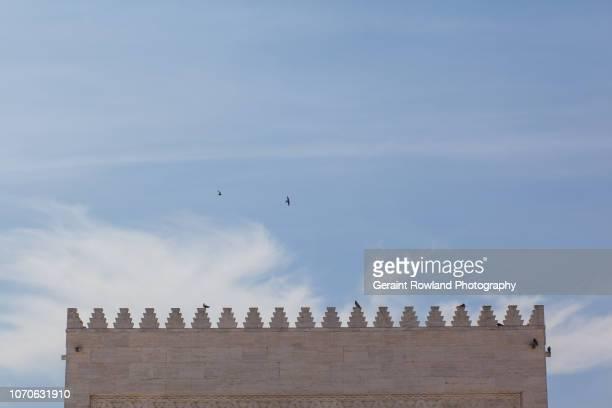decorated mosque roof - casablanca photos et images de collection
