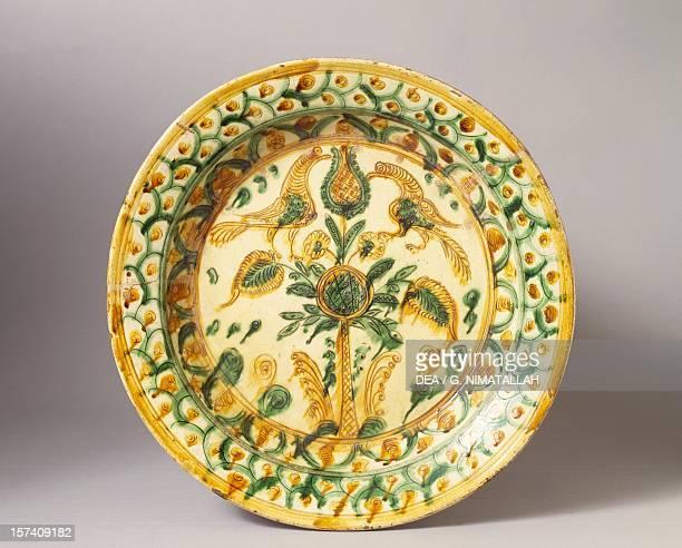 Decorated plate ceramic Urbino manufacture Marche Italy 17th century