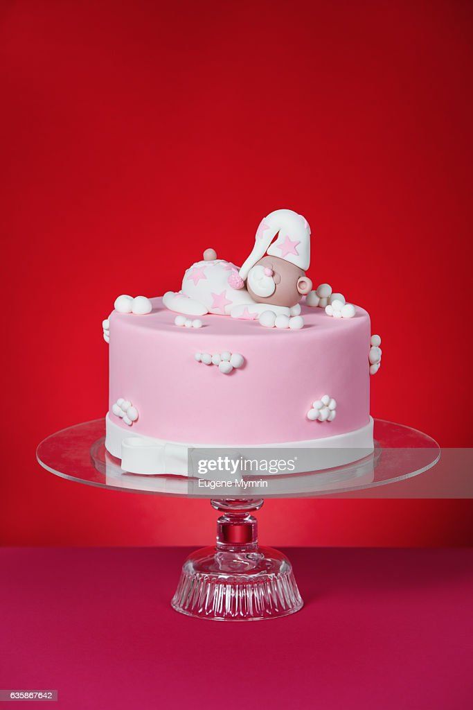 Decorated Rolled Fondant Cake Stock Photo Getty Images