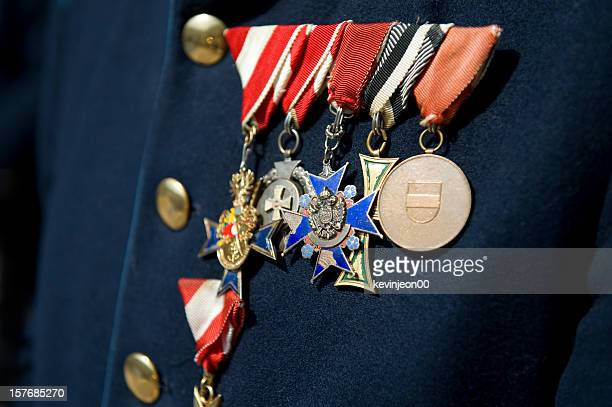 decorated soldier - medallion stock photos and pictures