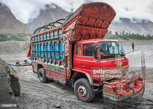 Decorated Truck By Attabad Lake, Gilgit-Baltistan, Pakistan