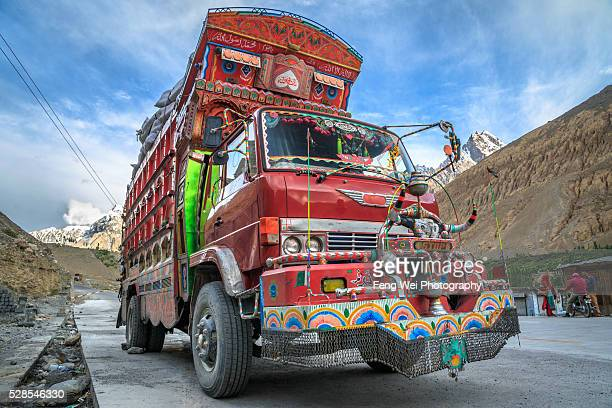 Decorated Truck On Karakoram Highway, Sost, Gilgit-Baltistan, Pakistan