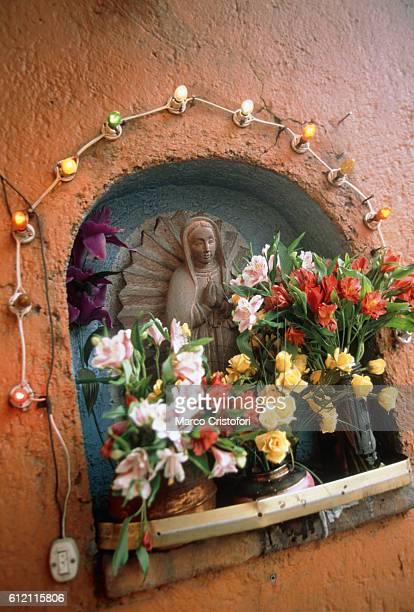 Decorated Virgin Mary, Mexico City, Mexico