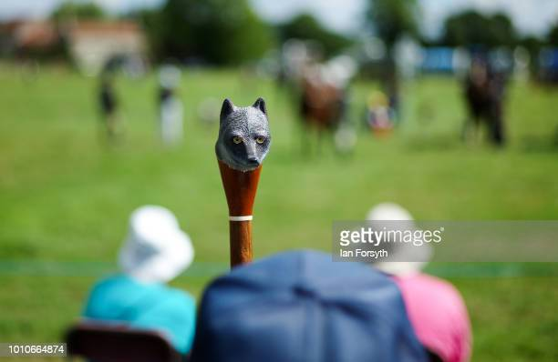 A decorated walking stick is held by a man watching an event during 152nd the Ryedale Country Show on July 31 2018 in Kirbymoorside England Held in...