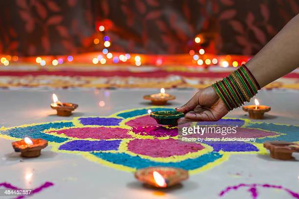 Decorated with Diyas