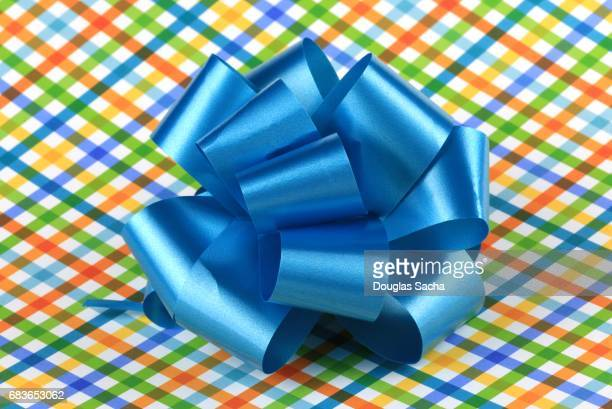 Decorating Bow on a wrapped present