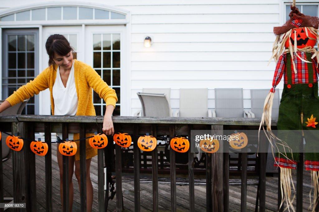Decorating for Halloween : Stock Photo